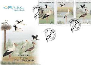 TURKEY / 2020 (FDC) - STORKS, (Animal, Bird, Stork)