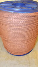 "NEW 5/16"" x 1000'  12-Strand Hollow Braid Polypropylene Rope, Yellow"