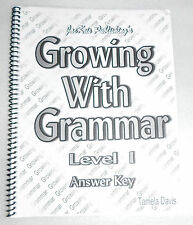 Growing with Grammar Level 1 Answer Key Tamela Davis Spiral Bound Homeschool