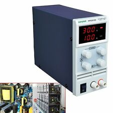 30V/10A Adjustable LCD DC Bench Power Supply Precision Variable Digital Lab Test