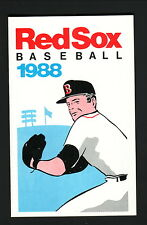 Boston Red Sox--Roger Clemens--1988 Pocket Schedule--Quincy Savings Bank