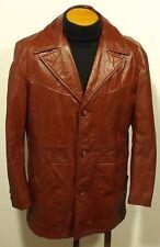 vintage 1970's men's SEARS leather jacket coat fight club pimp size 40