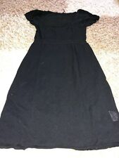 🌺 💝  TUNIQUE NOIRE NAF NAF DECOLLETEE TAILLE M / ROBE PULL MAILLE FINE  🌺 💝