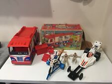 VTG 1973 IDEAL TOYS EVEL KNIEVEL SCRAMBLE VAN IN THE BOX MOTORCYCLE & FORMULA 1