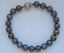 ♛ Princess Perlenarmband aus 18kt 750 Gold mit Akoya Perlen Perle Pearl bracelet