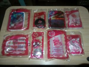 2008 McDonald's Speed Racer Happy Meal Toys COMPLETE Pink Girls Set Of 8 SEALED