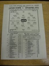 06/04/1946 Luton Town v Leicester City  (Single Sheet, folded, but very good con