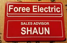 foree electric nametag - shaun of the dead - painted
