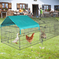 Chicken Kennel Outdoor Pet Play Pen Puppy Dog Cat Rabbit Cage Enclosure Exercise