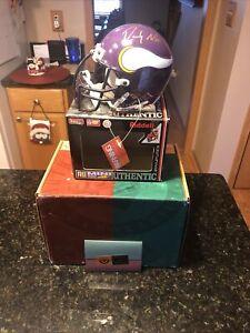 Randy Moss Signed Minnesota Vikings Mini Helmet Upper Deck Excellent Condition