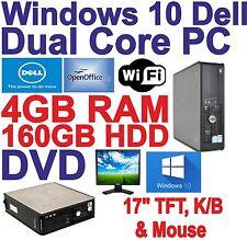 Windows 10 DELL Dual core 2x3.00GHz COMPUTER PC DESKTOP - 4GB RAM - 160GB HDD