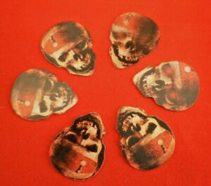 Plectrum set of 6 'Pirates of Carabbean' SKULL hologram picks- medium