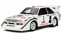OTTO MOBILE 757 AUDI SPORT QUATTRO SI model car Mikkola Olympus Rally 1985 1:18