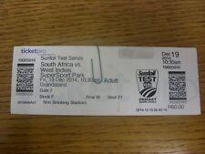 19/12/2014 Cricket Ticket: South Africa v West Indies [At SuperSport Park].  Tha
