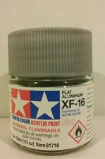 Tamiya acrylic paint XF-16 Aluminum 10ml Mini