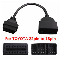 22pin to 16pin OBD1 to OBD2 Connect Cable for Toyota Before 1996 years