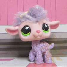Littlest Pet Shop Animals LPS Kids Child Toys Gift Lamb Purple Fur Sheep #2621