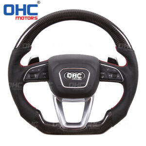 100% Real Carbon Fiber STEERING WHEEL for Audi A3 A4 A5 A6 S4 S5 RS line Q3 Q5