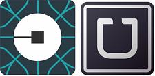 "2 x Uber vinyl decal sticker 5""x5"" for vehicle window bumper pair choose design"
