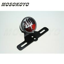 Motorcycle Stop Brake Tail Light License Plate Lamp Holder For Choppers