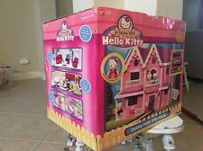 Deluxe Hello Kitty House Sanrio Ban Dai + Exclusive Characters 2002 + Box WORKS