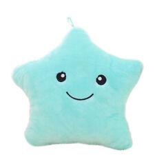 Twinkle Star Colorful LED Shiny Light Up Sparkle Plush Pillow Cushion Blue