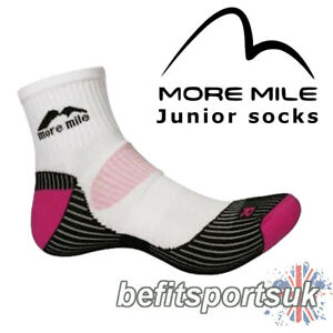 RUNNING CUSHIONED SOCKS JUNIOR KIDS CHILDRENS GIRLS MORE MILE LONDON SPORTS 1
