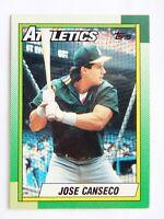 Jose Canseco 1990 Topps #250 Baseball Card (Oakland Athletics) LN