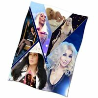 Cher Collage Flag Banner NEW Textile Fabric Poster If I Could Turn Back Time #1