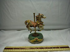 """Heritage House Country Fair Carousel Horse """"As Time Goes By"""" Music Box"""