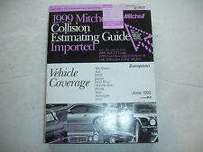 1999 Mitchell European BMW Porsche VW Collision Parts Estimating Manual Guide 06