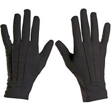 Short Black Short Spandex & Velvet Gloves For Fancy Dress Costumes Accessory -