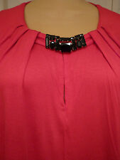 $109 NWT Jones New York red l/sleeves knit scoop neck top/blouse/tunic sz 2X