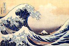 "KATSUSHIKA HOKUSAI :: THE GREAT WAVE ( MOUNT FUJI ) :: 24"" CANVAS FINE ART PRINT"