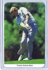 """1986 FAX-PAX """"KNOWLEDGE IN A NUTSHELL"""" GOLF Card Thomas Andrew Bean of U.S.A."""