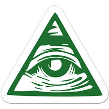 "Mason Eye Masonic car bumper sticker decal 4"" x 4"""