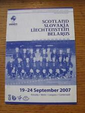 19/09/2007 campeonato de la UEFA U17: 1st ronda de calificación-Escocia V Eslovaquia [at
