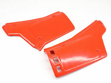 New Side Covers Panels Set Red/Orange 1983-84 Honda XR500 R Left Right    #J65