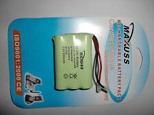 MAXUSS Cordless Phone 800mAh 3.6V Ni-MH rechargeable AAAx3 battery PACK M-102