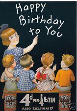 Robert Opie Advertising Postcard - Happy Birthday To You - Lyons Cocoa   BT710