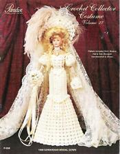 Paradise Crochet Leaflet P-038 Vol 27 makes 1908 Edwardian Bridal Gown 4 Barbie