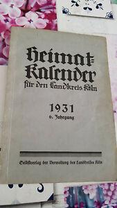 Heimatkalender 1931 für den Landkreis Köln