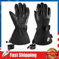Waterproof Ski Snowboard Gloves Touchscreen Winter Gloves w/ Wrist Leashes