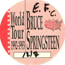 Bruce Springsteen-backstage pass December 7,1992 Philly
