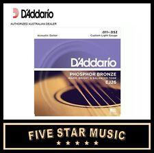 10 SETS D'DADDARIO EJ26 ACOUSTIC PHOS BRONZE GUITAR STRINGS 11-52 NEW DADDARIO