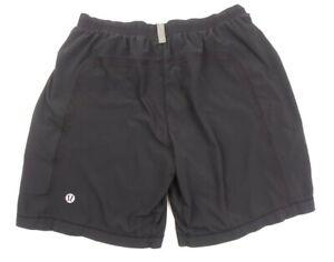 "Lululemon Men's Large Pace Breaker Shorts 9"" Lined Black"