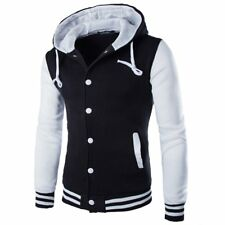 Men's Outwear Sweater Winter Hoodie Warm Coat Baseball Jacket Hooded Sweatshirt