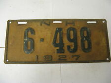 1927 27 New Hampshire NH License Plate 6-498