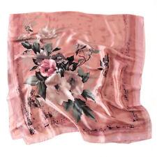 Carré Foulard - 100% Soie Thème Floral ROSE 180cm 90cm Silk séide scarf  shawl 5d98dd5364f