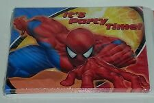 Spiderman It's Party Time Invitations Birthday Invites